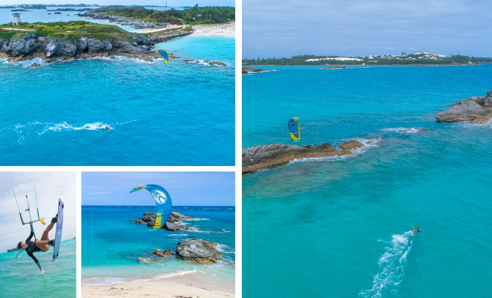 Coopers Island Kiteboarding Collage 2