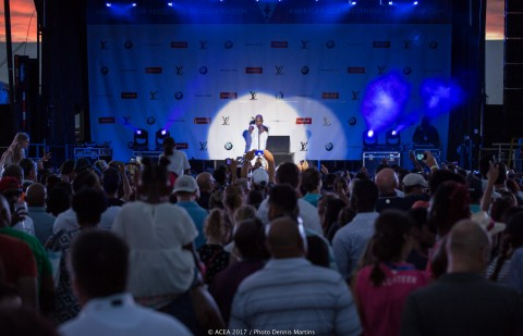 Ne-Yo performs at the America's Cup Village in Bermuda