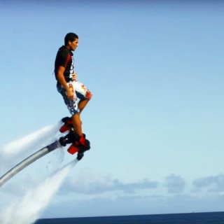 Mike Swan flyboarding in Bermuda