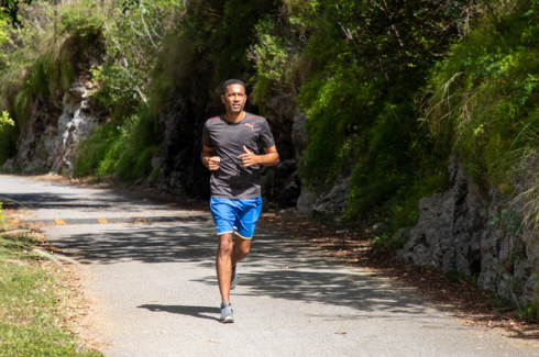 A runner on the Bermuda Railway Trail